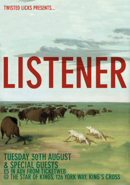 Gig: Listener w/ Grass House and Killing Moon Limited DJs