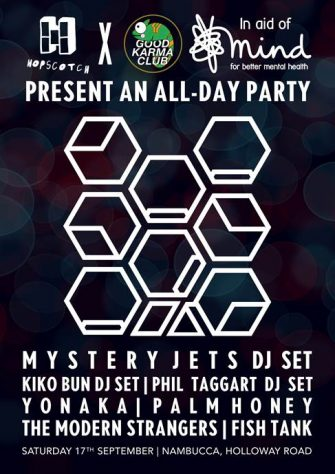 Hopscotch X Good Karma Club -All Day party for MIND, 17th September