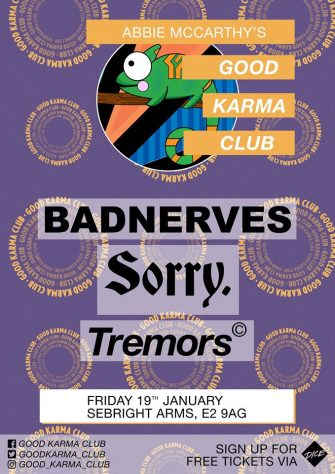 GOOD KARMA CLUB, 19TH JANUARY, SEBRIGHT ARMS
