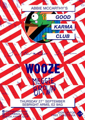 GOOD KARMA CLUB, SEPTEMBER 27TH, SEBRIGHT ARMS