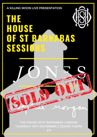 HOSB Sessions Presents JONES, November 15th