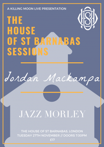 HOSB Presents Jordan Mackampa, November 27th