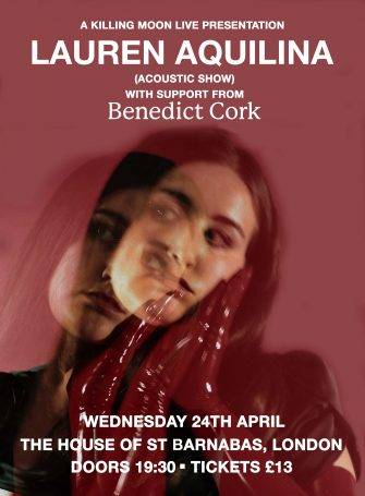 HOSB Sessions , Lauren Aquilina, The House of St Barnabas, April 24th