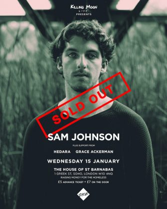 HOSB Sessons, Sam Johnson, The House of St Barnabas, January 15th