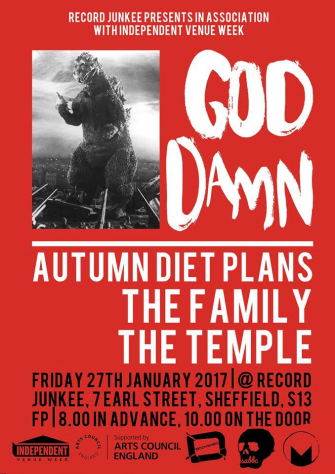 Record Junkee X Killing Moon presents God Damn plus special guests, 27th January, Record Junkee