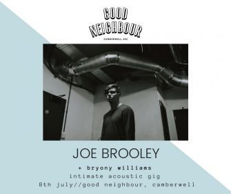 Good Neighbour Sessions Presents Joe Booley, July 8th