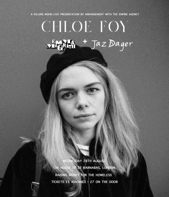 HSOB SESSIONS, CHLOE FOY, THE HOUSE OF ST BARNABAS, AUGUST 28TH