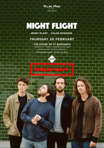 HOSB SESSIONS, NIGHT FLIGHT, THE HOUSE OF ST BARNABAS, FEBRUARY 20TH